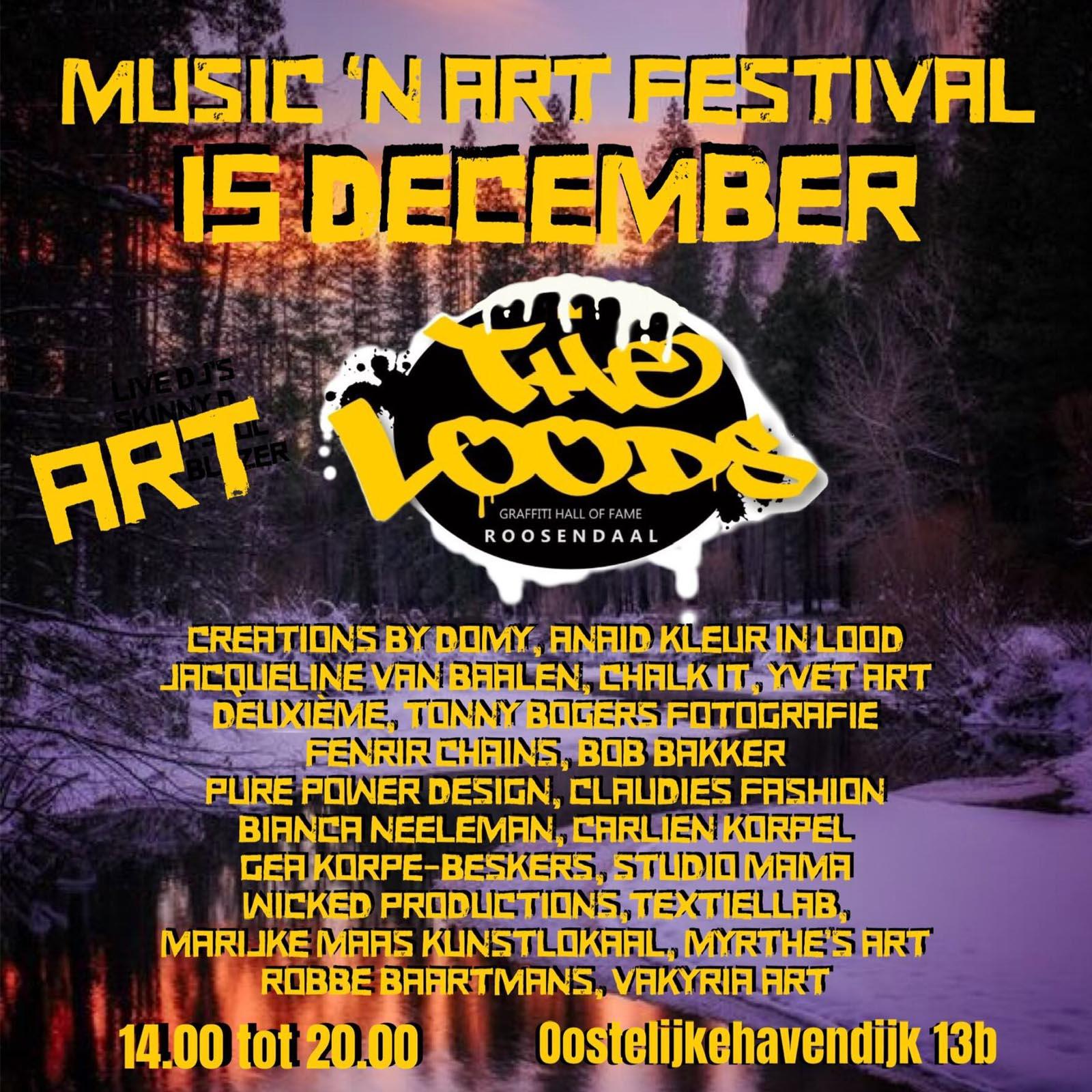 Flyer Music n Art Festival onderdeel kunst