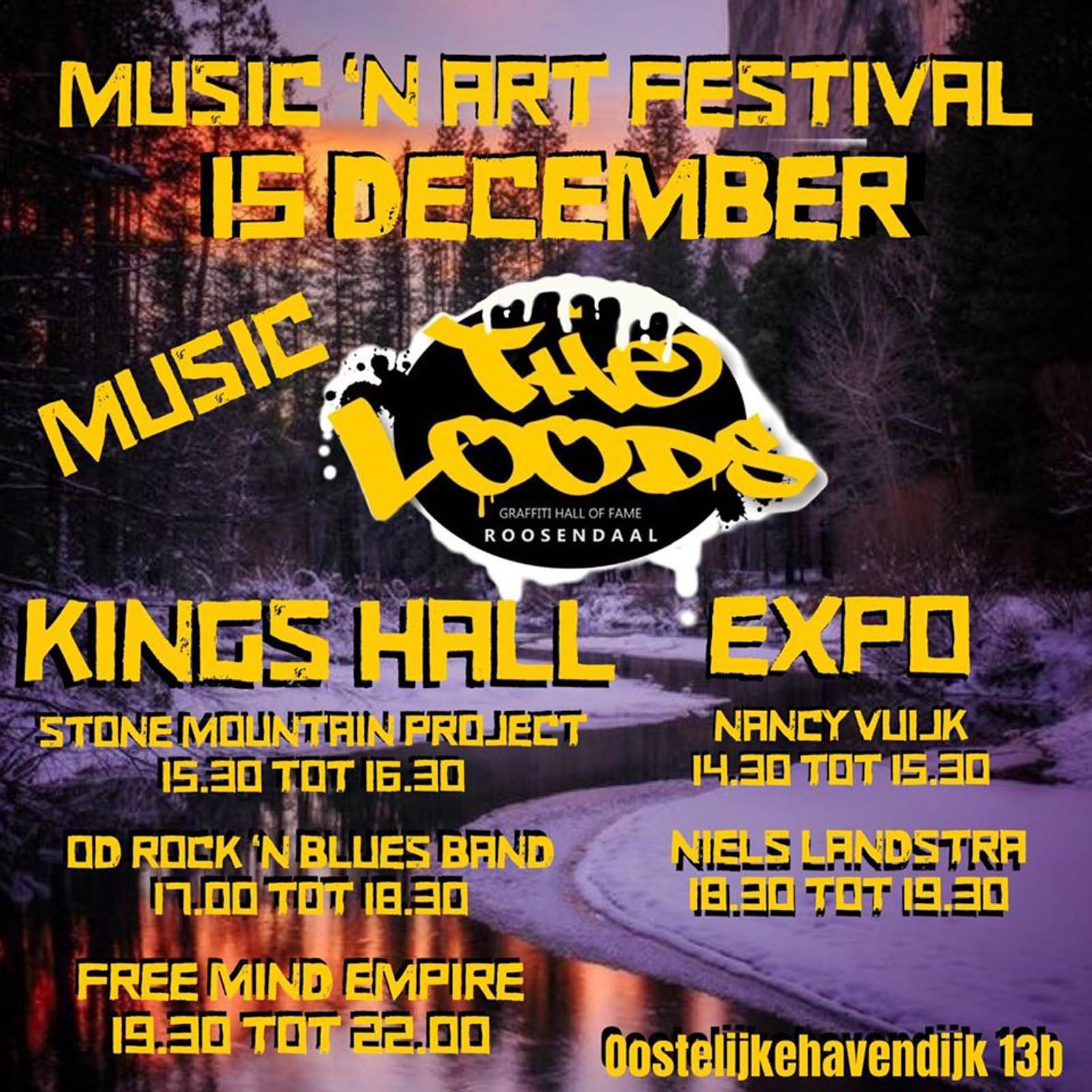 Flyer Music n Art Festival onderdeel muziek