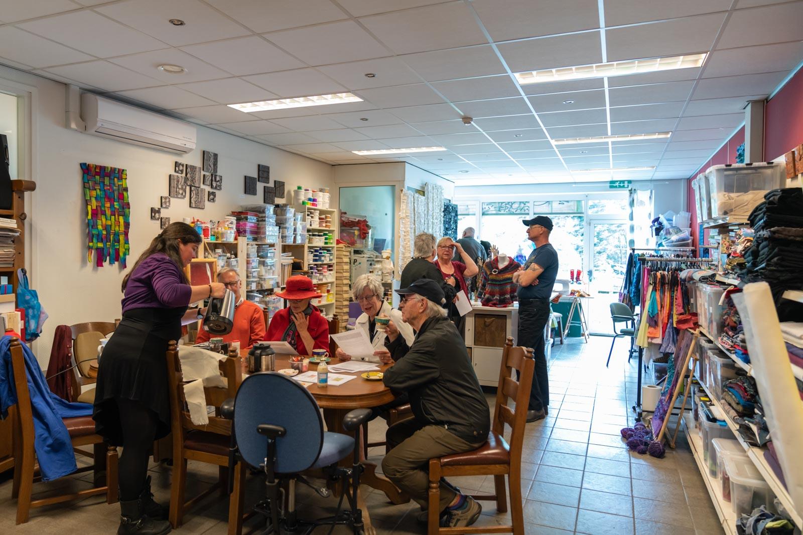Open Atelier Dag in atelier van Textiellab
